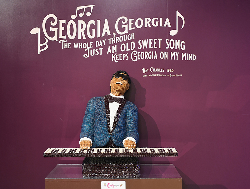Ray Charles Candytopia Art in Atlanta